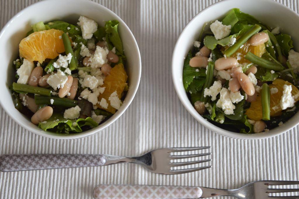 Sałatka z pomarańczą i fasolką szparagową