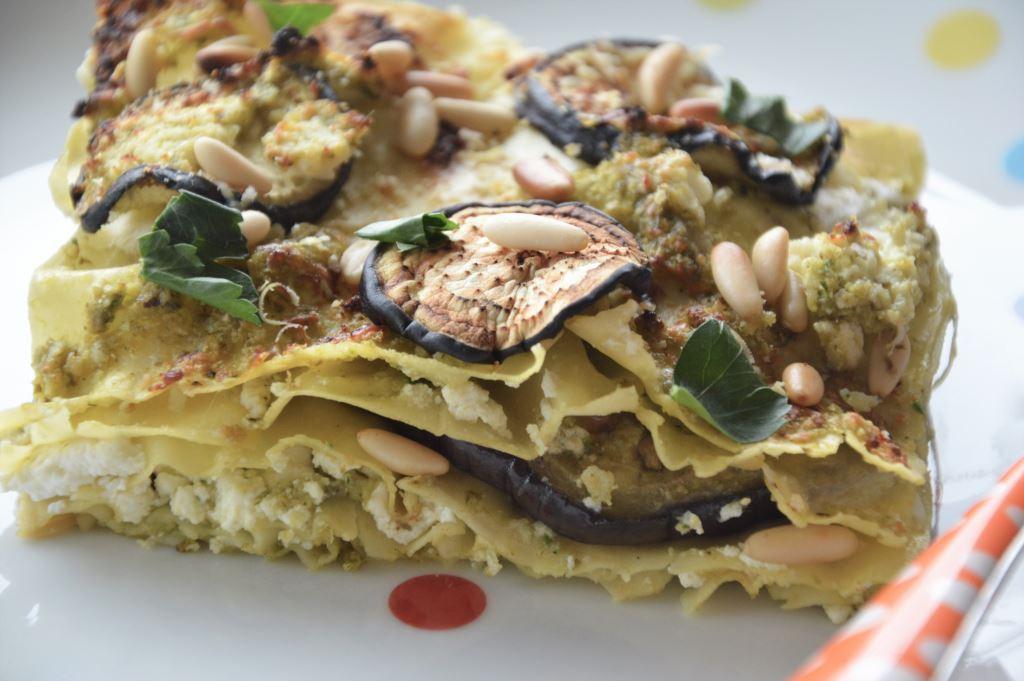 Lasagne z pesto, cukinią i ricottą