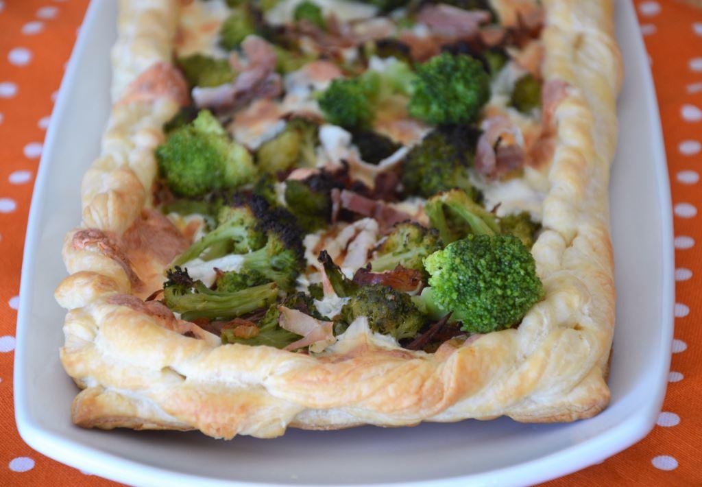Tarta z brokułami i ricottą